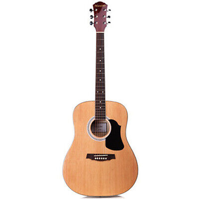 AU79.99 • Buy NEW 41  Full Size Handcrafted Steel String Dreadnought Natural Acoustic Guitar