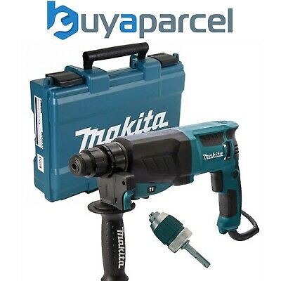 View Details Makita 240v SDS + 3 Mode Rotary Hammer Drill HR2630 Heavy Duty + Chuck + Adaptor • 129.99£