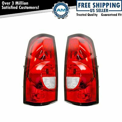 $94.32 • Buy Tail Lights With Harness And Bulbs Pair Set For 04-07 Chevy Silverado