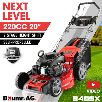 AU489 • Buy BAUMR-AG 20  Self-Propelled Lawn Mower - 220cc 4-Stroke Petrol Push Lawnmower