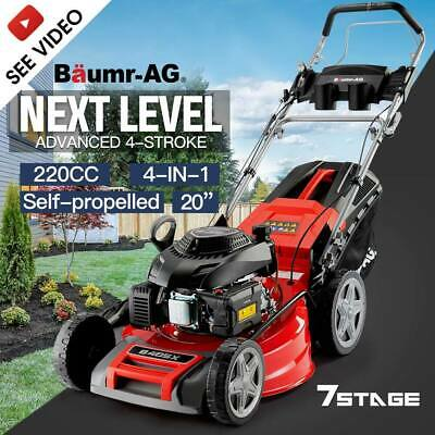 AU539 • Buy 【EXTRA15%OFF】BAUMR-AG 20  Self-Propelled Lawn Mower - 220cc 4-Stroke Petrol