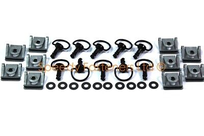10x Genuine Black Dzus Motorcycle Fairing Quick Release Panex D Ring Bolts Clips • 33.99£