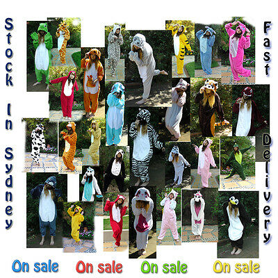 AU22.80 • Buy Unisex Animal Onesie0  Cosplay Costume Kigurumi Pajamas Sleepwear S/M/L/XL