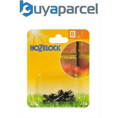 10 X Hozelock 2782 Micro Pipe Hose Clip 4mm Micro Irrigation Automatic Watering • 6.70£