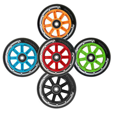 £14.95 • Buy Pro Nylon Core Scooter Wheels X 2 100mm 88A PU Rubber Compatible JD Bug MGP Grit