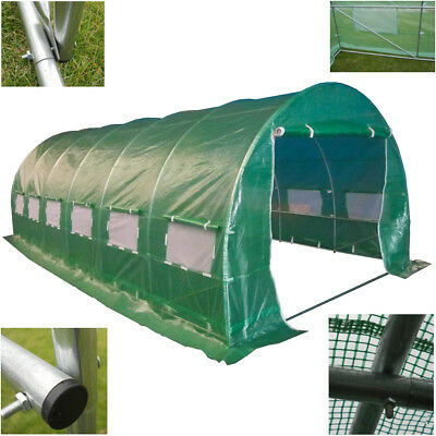 £227.99 • Buy Polytunnel 6m X 3m - Quality 6 Section Greenhouse - Galvanised Frame Pollytunnel