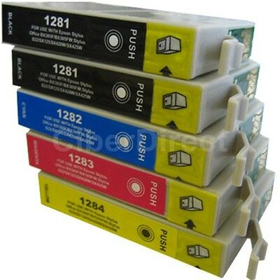 £7.85 • Buy 5 CiberDirect T1281 T1282 T1283 T1284 Ink Cartridges To Fit Epson Printers