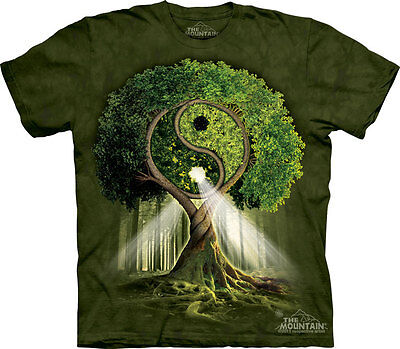 YIN YANG TREE The Mountain T Shirt Buddha Unisex • 25.99£