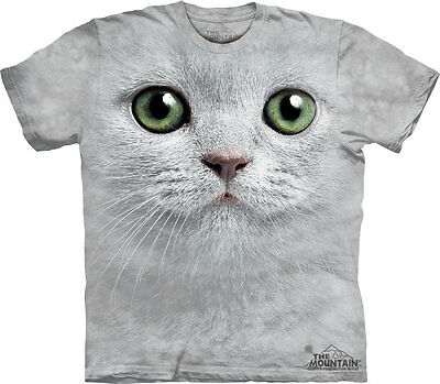 £23.99 • Buy GREEN EYES CAT FACE The Mountain T Shirt Unisex