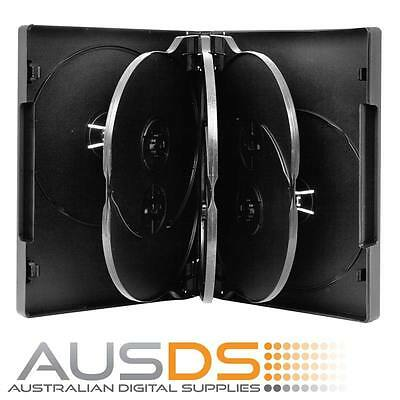 AU28.90 • Buy 10 X CD / DVD Cases - Black 6 Disc 26mm Spine - Holds 6 Discs Fatbox