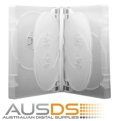 AU24.90 • Buy 4 X DVD Cases Clear 6 Disc 26mm Spine - Holds 6 Discs Fatbox