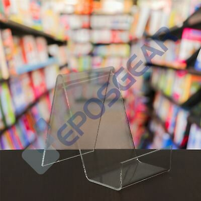 Perspex Acrylic Plastic Book Plate Phone Tablet Retail Shop Display Stand Holder • 5.20£