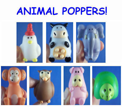 Animal Popper Squeeze Toy Favor Gift Chicken Cow Elephant Monkey Owl Pig  Turtle • 6.13£