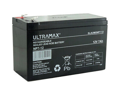 £15.49 • Buy NP7-12 12v 7Ah Ultra Max Lead Acid Rechargeable Battery NP9-12, NP6-12