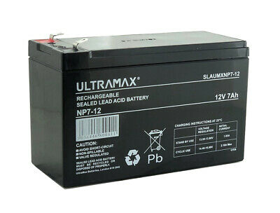 NP7-12 12v 7Ah Ultra Max Lead Acid Rechargeable Battery NP9-12, NP6-12 • 15.49£