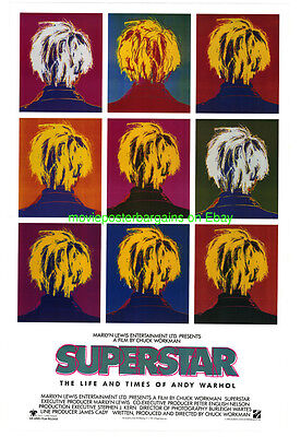 $26 • Buy Superstar: The Life And Times Of Andy Warhol Movie Poster 1990 Chuck Workman Bio