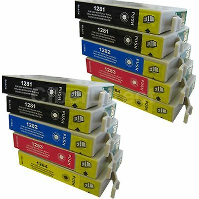 10 CiberDirect Replacements For Epson T1285 Printer Ink Cartridges - VAT Invoice • 13.85£