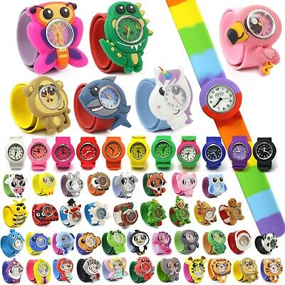 £5.99 • Buy Wacky Watches Snap On Slap Band For Kids Boys Girls Silicone Accessories Animal