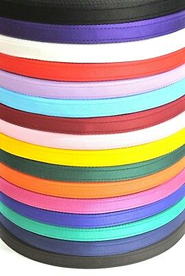 25mm Cushion Webbing In 20 Colours Bags Straps Leads Craft 1m 2m 5m 10m 25m 50m • 2.90£