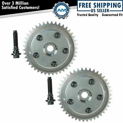 $199.85 • Buy Camshaft Phaser Variable Valve Timing Sprocket Gear Cam Shaft Pair Set For Ford