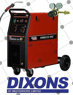 £1495 • Buy Lincoln Electric Powertec 191C MIG Welder Package 180amp Welding Single Phase