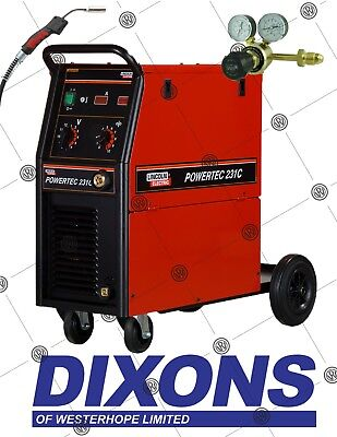 £1517 • Buy Lincoln Electric Powertec 231C MIG Welder Package 220amp Welding Single Phase
