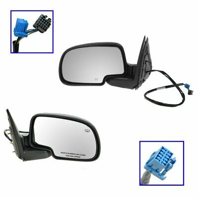 $84.73 • Buy Side View Mirrors Power Heated Black Textured LH & RH Pair Set For Chevy GMC
