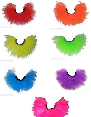 AU12.60 • Buy Neon Tutu Skirt Legwarmers Gloves 80s Fancy Dress Fun Run Hen Party Club Charity