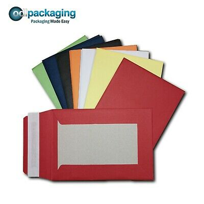 £114 • Buy Coloured Hard Board Backed Envelopes A6 C6 A5 C5 A4 C4 Peel & Seal 120 / 550 GSM