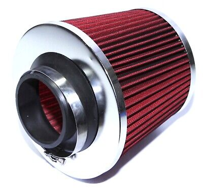$12.10 • Buy 2.5  Cold Air Intake Filter Cone Dry Air Filter Turbo Application Universal Red