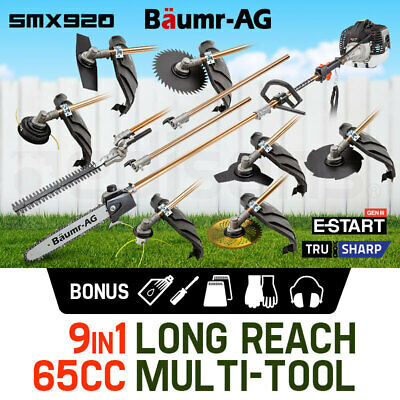 AU359 • Buy Baumr-AG Pole Chainsaw Brush Cutter Whipper Snipper Hedge Trimmer Multi Tool