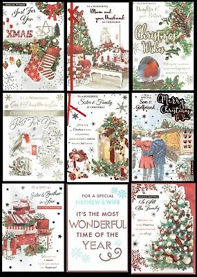LARGE  ~ QUALITY ~ CHRISTMAS CARD ~ SOMETHING FOR EVERYONE Great Designs • 2.45£