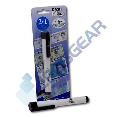 £3.50 • Buy 2 In 1 UV Counterfeit Fake Forged Money Note Checker Detector Tester Marker Pen