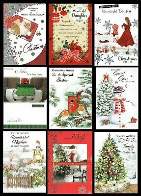 QUALITY ~ CHRISTMAS CARDS ~ ONLY 99p Each Card ~ SOMETHING FOR EVERYONE • 0.99£