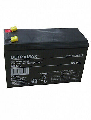 £19.99 • Buy NP9-12 12v 9Ah Ultra Max Lead Acid Rechargeable Battery NP7-12, NP6-12, ES7-12