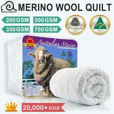 AU72 • Buy Aus Made 100% Merino Down Wool Quilt Duvet Doona Blanket Summer/Winter All Size