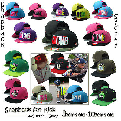 AU5.99 • Buy Kids Snapback Hats YMCMB OBEY Snapback Hat For Most 3 -10 Years Old Kids