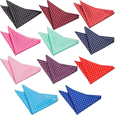 Pocket Square Handkerchief Hanky Woven Polka Dot Dotted Mens Accessory By DQT • 3.99£