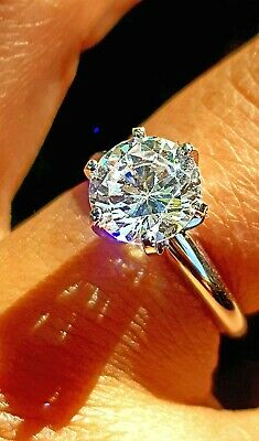AU399.95 • Buy 1CT VS D E Lab Diamond Coated Made Solitaire 14K White Gold Engagement Ring