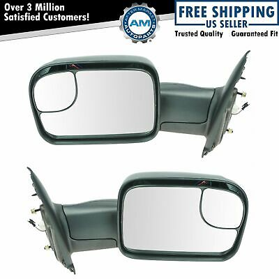 $318.95 • Buy Towing Mirror Flip Up Power Heated Signal Pair Set For Dodge Ram Pickup Truck