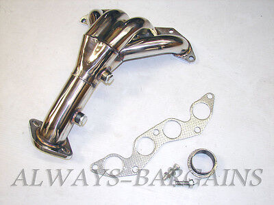 $109.95 • Buy Manzo Stanless Steel Exhaust Header Fits Civic DX LX 01 02 03 04 05 1.7L TP-131