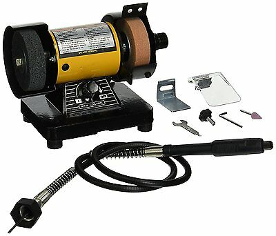 3   Bench Grinder W/Flex Shaft Variable Speed Deburring, Grinding And Polishing  • 56.26£