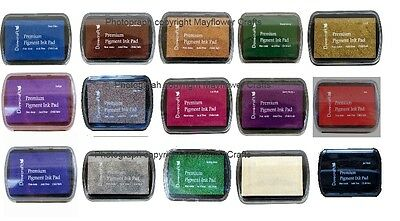 Dovecraft Pigment INK PAD ASSORTED COLOURS  - Black Gold Red White Green & More  • 1.20£