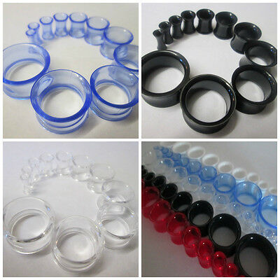 £1.50 • Buy Ear Tunnel Acrylic Saddle Plug Taper Stretcher Double Flared Ends 3mm-20mm