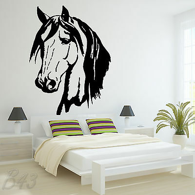 £4 • Buy Horse Head Large Wall Art Decal Vinyl Sticker For Bedroom Or Living Room