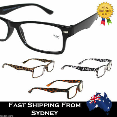 AU6.99 • Buy Mens Men Ladies Frame Magnifying Reading Glasses Nerd Spectacle +1.0~+3.5