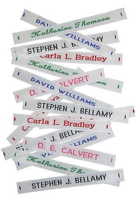 144 Woven Name Tapes/Labels For School Uniform Plus 12 Printed Iron-on Tags • 6.99£