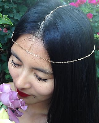 £30.79 • Buy 14K Gold-filled Or Sterling Silver Head Chain/Head Piece/Chakra Chain/Headband