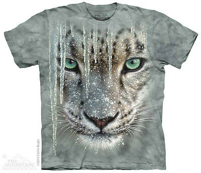 £24.99 • Buy ICICLE SNOW LEOPARD The Mountain T Shirt Wildlife Unisex