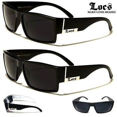 AU19.95 • Buy Locs Men's Sunglasses - Square Flat Top Frame -Available In Matte & Gloss Finish
